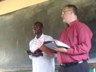Thom and Pastor Jared at Bondeni Church