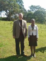 Thom and Esther (studnet who translated English into Swahili)