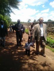 Thom and church members from Kitale