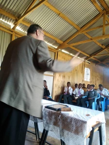 Thom preaching Dr. Buconyori FMC Boy's High School2
